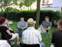 Oberbürgermeister Jann Jakobs im Lustgarten des MCS20