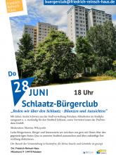 Unser Flyer für den Juni-Schlaatz-Bürgerclub