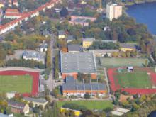 Luftperspektive des Areals im Sportpark Luftschiffhafen